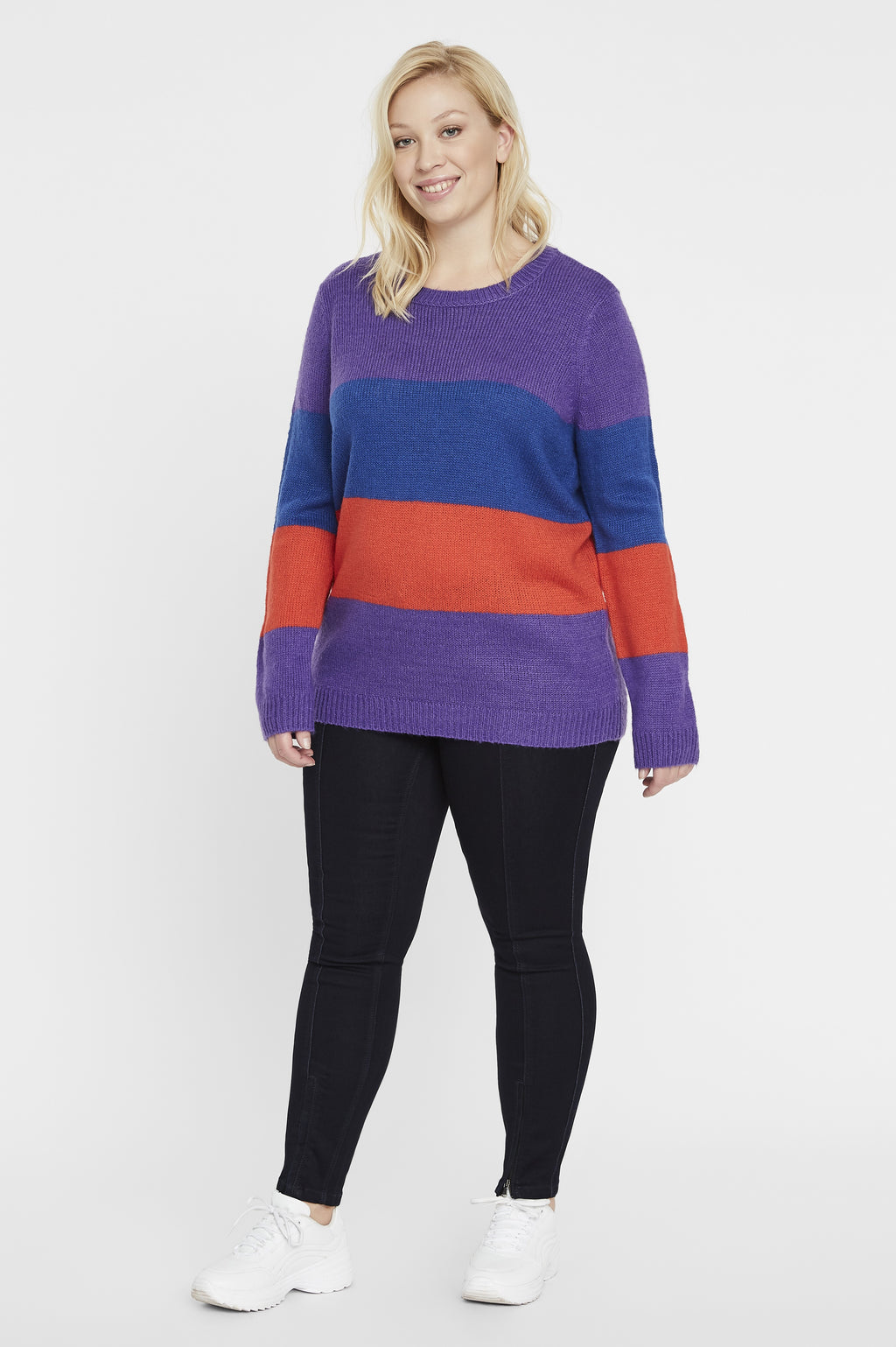 Pull rayé colorblock