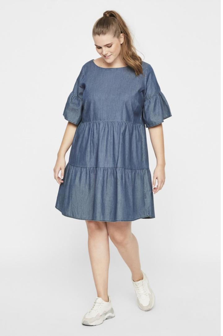 Robe denim ample