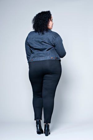 October - Legging noir à clous Grandes Tailles, disponible du 44/46 au 56