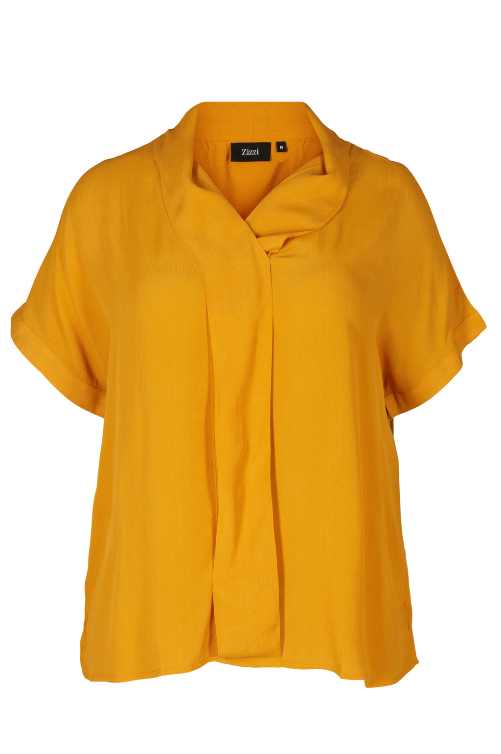 Blouse fluide jaune moutarde