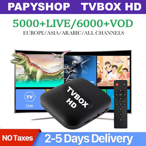 TVBOX HD Android Smart TV Box + IPTV