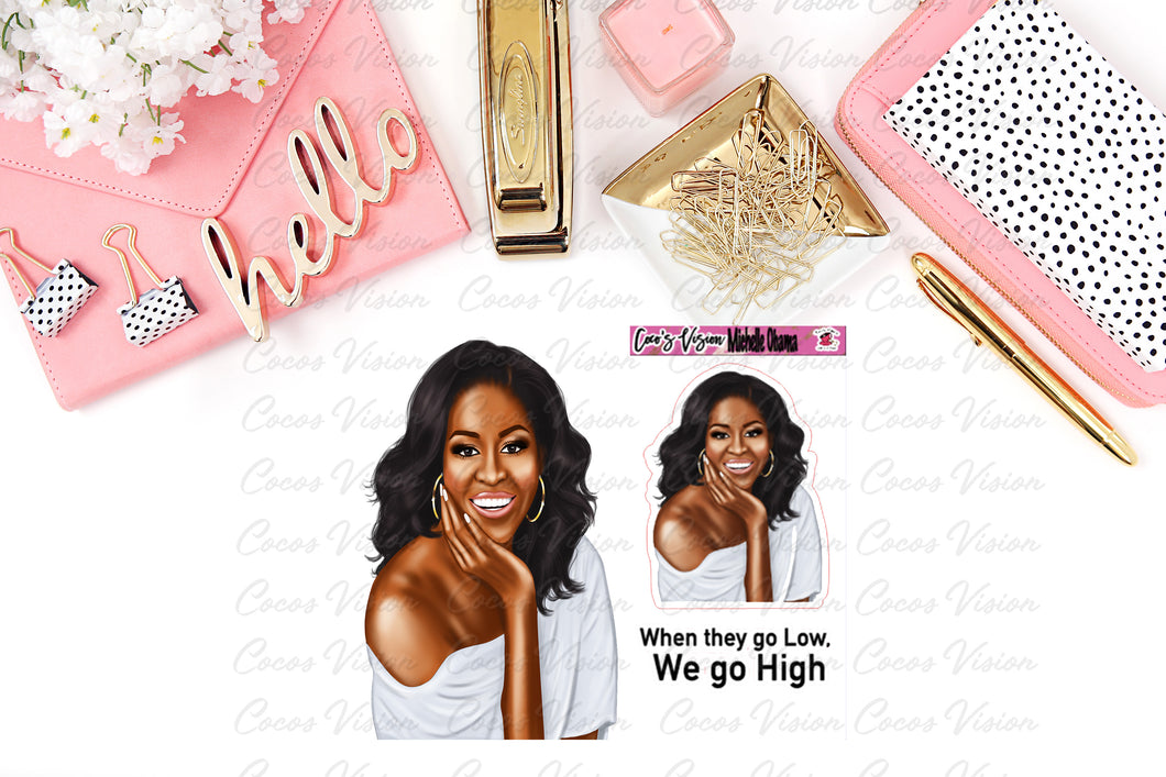 Michelle Obama Die Cuts and Stickers