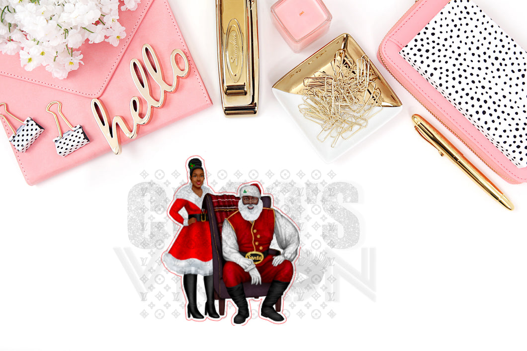 Mr and Mrs Clause Die Cuts and Stickers