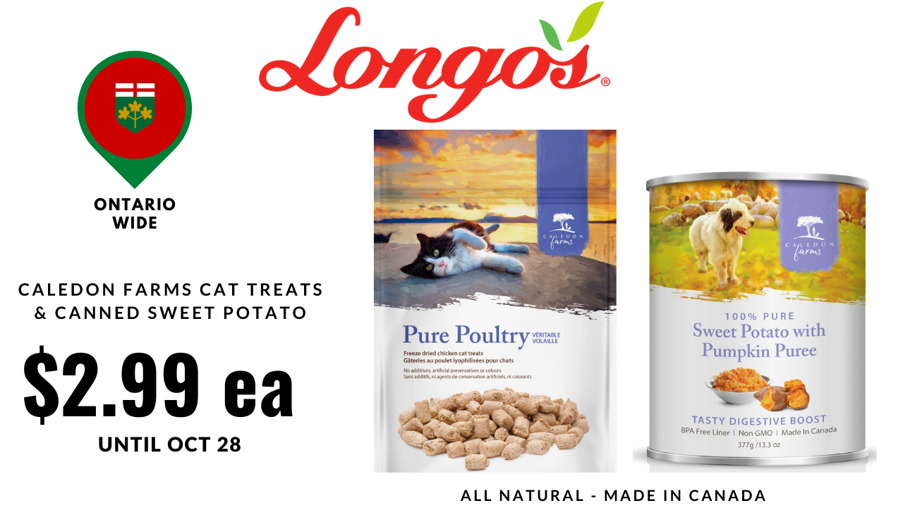 Longos Cat Treat and Sweet Potato Can Sale