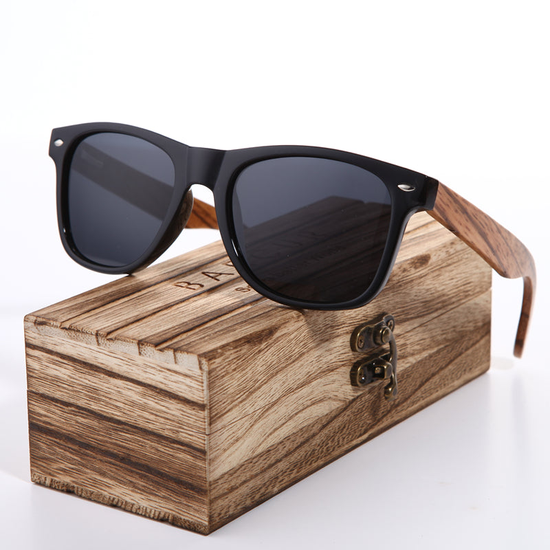 c7ed7f822a Sunglasses 2018 Polarized Zebra Wood Glasses Hand Made Vintage Wooden Frame  Male Driving Sun Glasses Shades