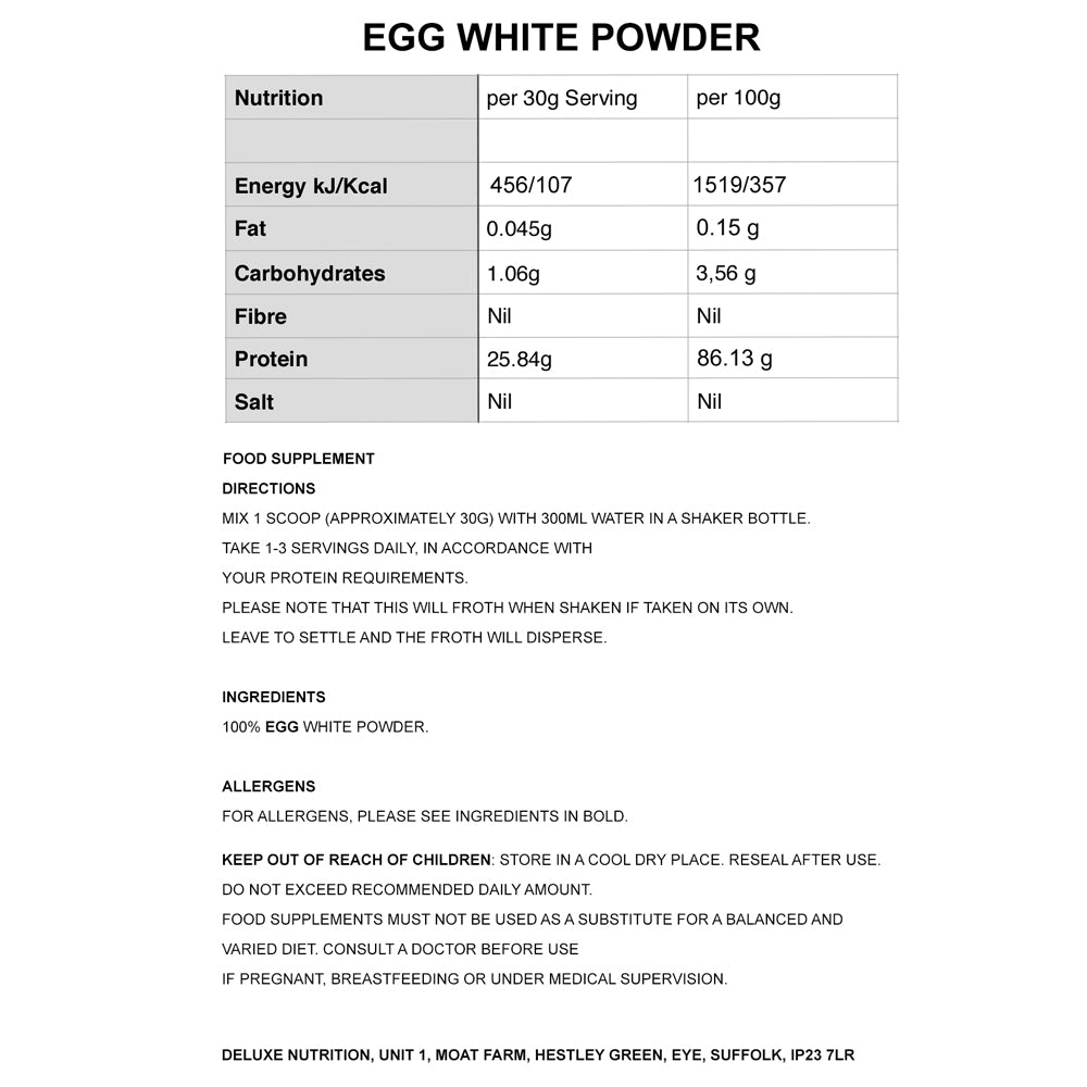 EGG WHITE POWDER UNFLAVOURED