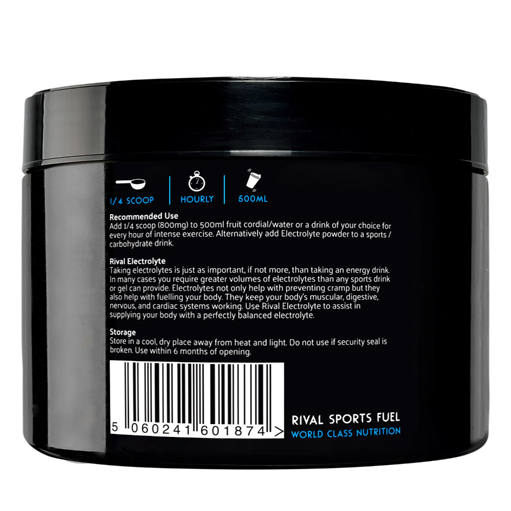 Rival Sports Fuel Electrolyte Powder 250g (No Flavour Added) DAMAGED INNER SEAL 312 Servings