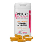 TURMERIC AND BLACK PEPPER 600mg 60 CAPSULES VEGAN