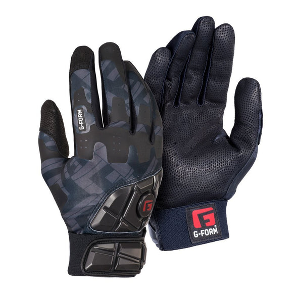 G-Form YGB0102 343 Youth Bk/Bk Grey Print Protective Batting Gloves Various Size