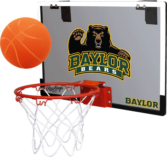 Baylor Bears Rawlings/Jarden NCAA Game On Door Basketball Hoop Ball Set