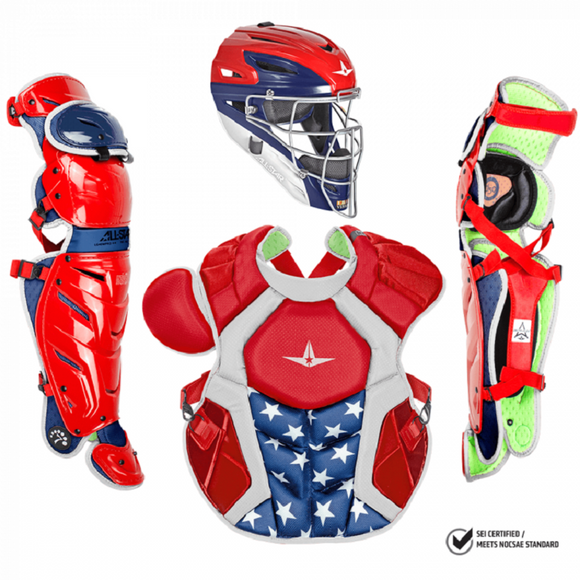 All-Star CKCCPRO1X USA System 7 Axis Adult Pro Catchers Set USA