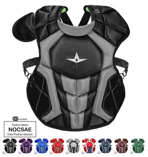 All-Star CPCC1216S7X 15.5 In 12-16 System 7 Chest Protector SEI/NOCSAE