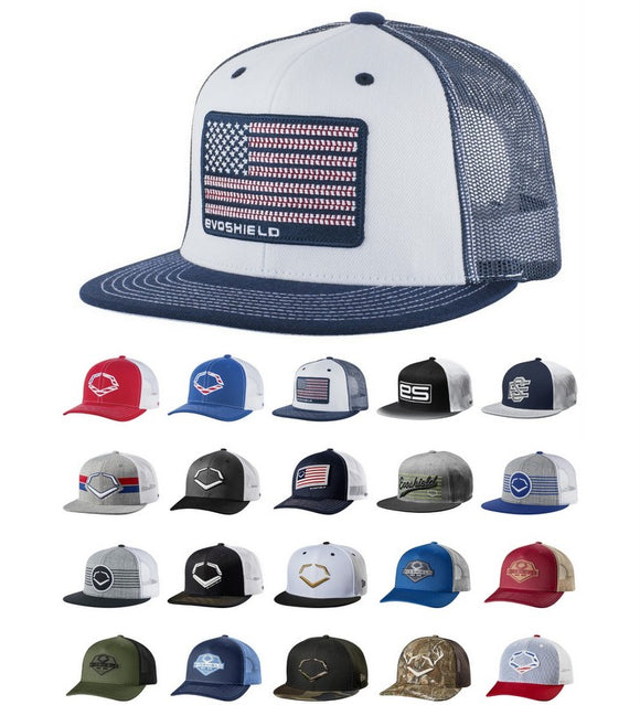 EvoShield Snapback Baseball Cap Series Trucker Style Hat Various Styles/Colors