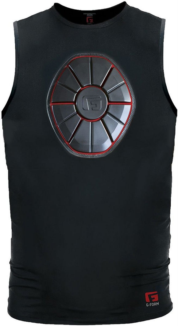 G-Form SN0105 Black/Red Adult Sternum Chest Guard Protective Shirt Various Sizes