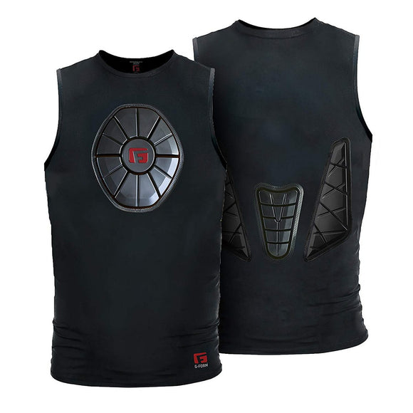 G-Form SN0202 Black Adult Sternum/Chest/Back Guard Protective Shirt Various Size