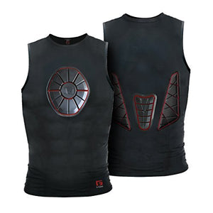 G-Form SN0205 Black/Red Adult Sternum/Chest/Back Guard Protective Shirt Var Size