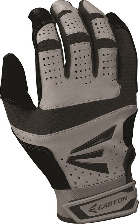 1 Pair Easton HS9 Hyperskin Adult Small Grey / Black Batting Gloves A121589