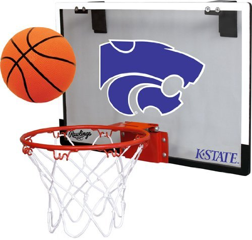 Jardeen Kansas State Wildcats NCAA Game On Door Basketball Hoop Ball Set