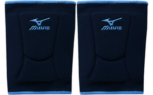 1 Pr Mizuno LR6 Highlighter Navy/Columbia Blue Adult Medium Volleyball Knee Pads