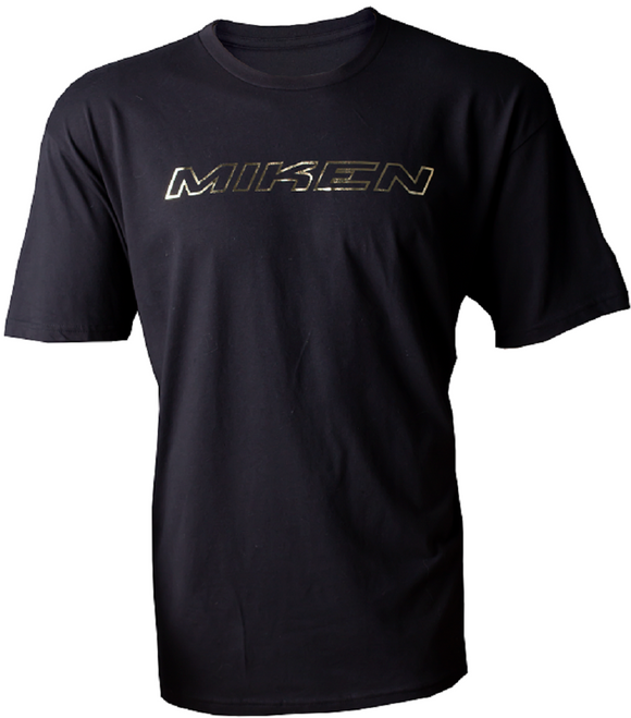Miken MKNGLD-SST Gold Foil Tee-Shirt / T-Shirt Adult Black Various Sizes