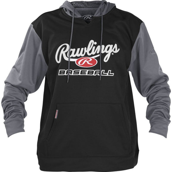 Rawlings YPFHPRBB Black/Grey Logo Hoodie Hooded Sweatshirt Various Sizes