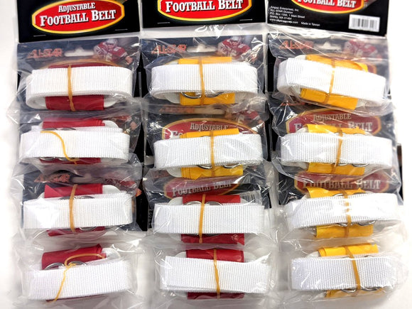 All-Star Sports of Massachusetts Adjustable Flag Football Belts 6 Red, 6 Yellow