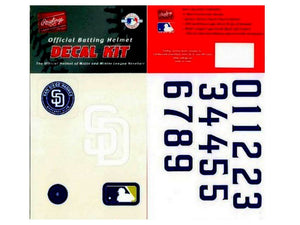 Rawlings MLBDKSD San Diego Padres Official Major League Batting Helmet Decal Kit