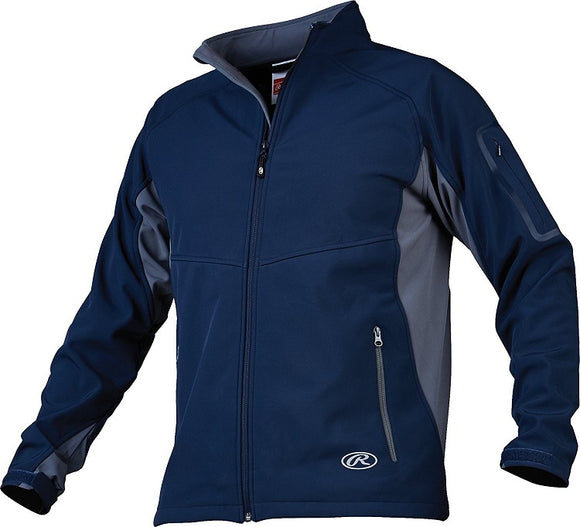Rawlings Navy Blue Adult Mens Small Reign Thermal Jacket Full Front Zip New!