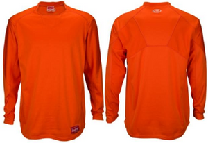 Rawlings UDFP3−BO Mens XXX-Large Orange Dugout Fleece Pullover Long Sleeve New!
