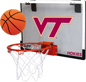 Jardeen Virginia Tech Hokies NCAA Game On Door Basketball Hoop Ball Set