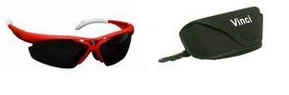 Vinci Red Multi-Lens Sunglasses Player / Coach / Umpire New In Wrapper!