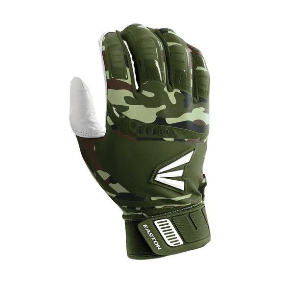 Easton Walk Off Youth Large Army Camo Baseball Batting Gloves Pair