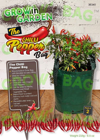 chilli peppers grow bag