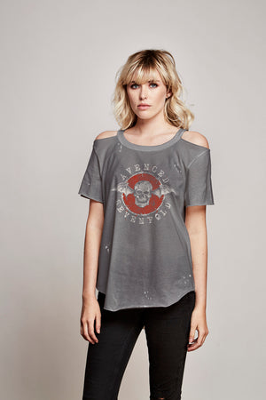 Avenged Sevenfold Cold Shoulder Tee - Trunk Ltd.