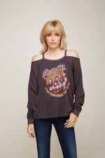 Aerosmith Get Your Wings Cold Shoulder Pullover