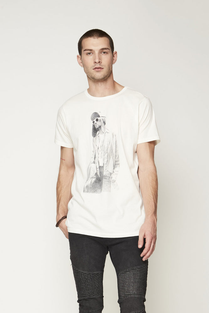 Kurt Cobain White Short Sleeve Tee