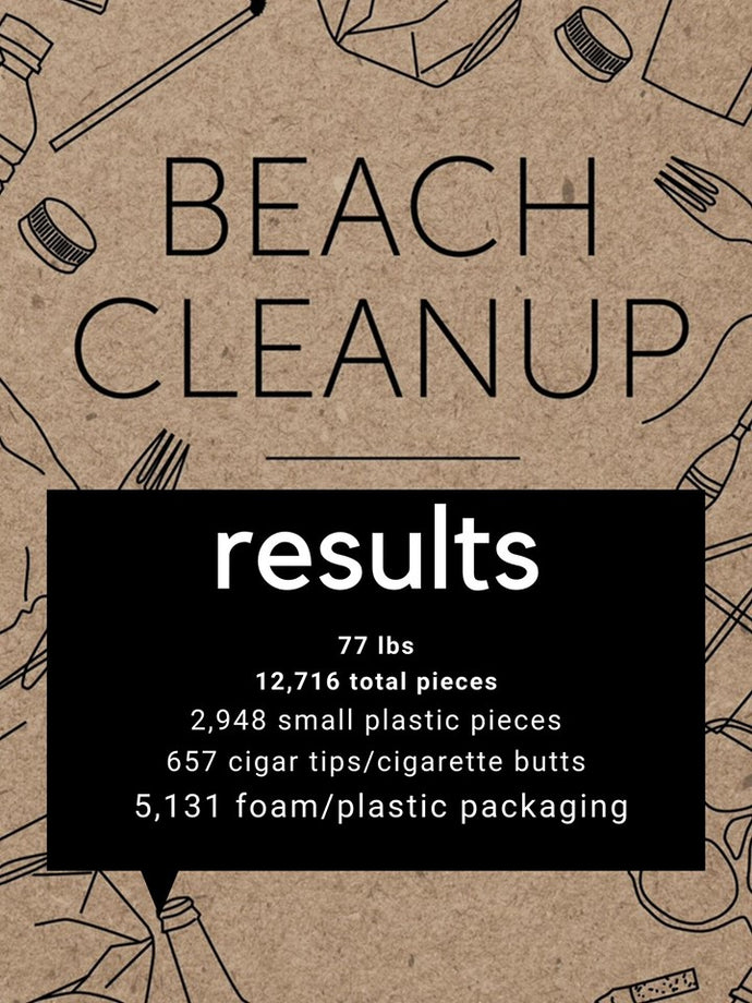RESULTS of the Beach Cleanup : September 15, 2019