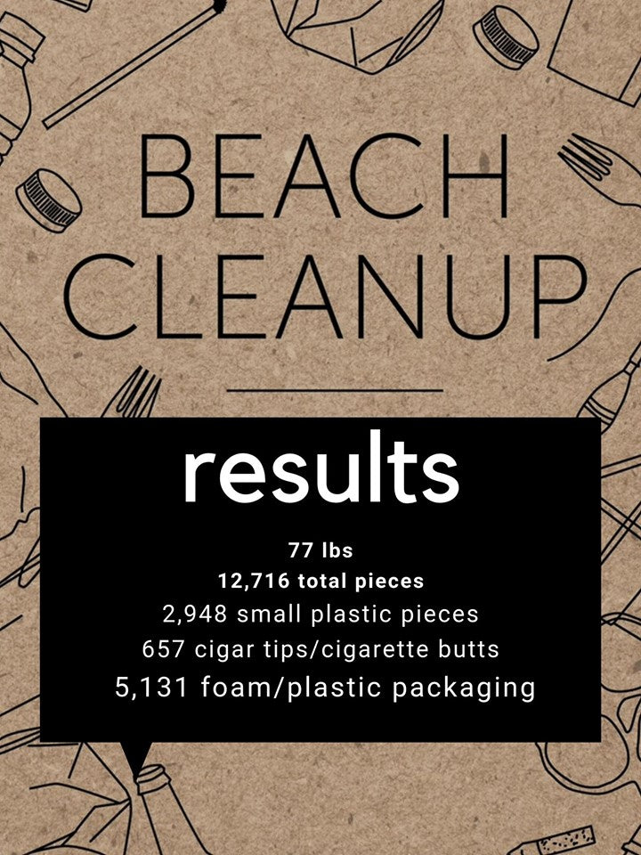 Beach Cleanup Results Muskegon Michigan Clean Ocean Clothing