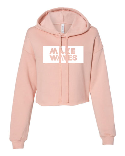 Make Waves - Peach -  Women's Cropped Hoodie