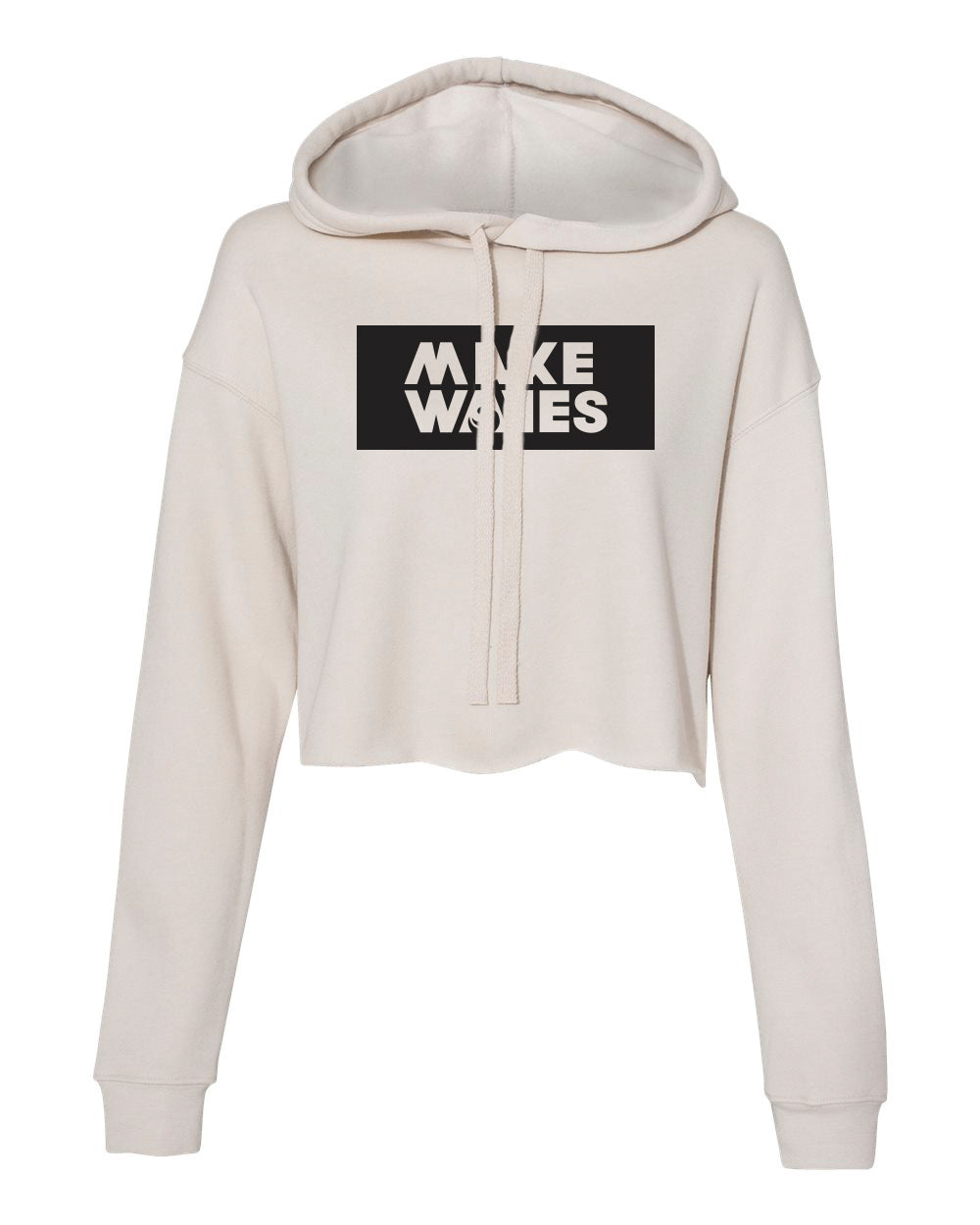 Make Waves - Heather Dust Women's Cropped Hoodie
