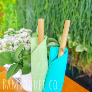 Bamboo Straws & Sleeve Box Set (w/brush)