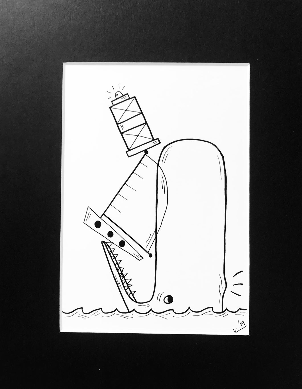 Eating the Sea Sketch - Print of Original Illustration by Katrina