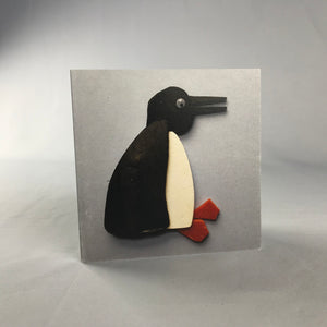 Penguin Square Greeting Card