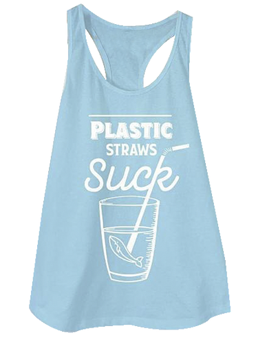Plastic Straws Suck Women's Tank Top