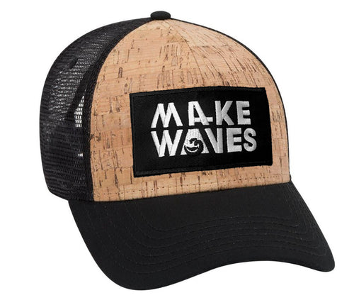 Make Waves Cork Mesh Trucker Hat