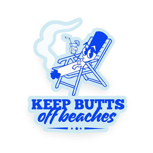 Keep Butts Off Beaches Sticker - Wholesale