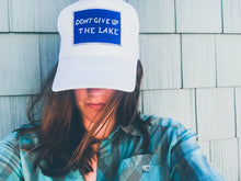 Don't Give up the Lake - White Unisex Surfer Trucker Cap