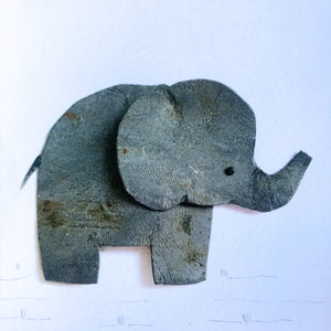 Elephant Square Greeting Card