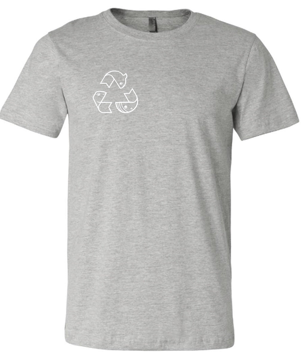 What Happens to the Ocean Happens to Us - Unisex Heather Gray T-shirt
