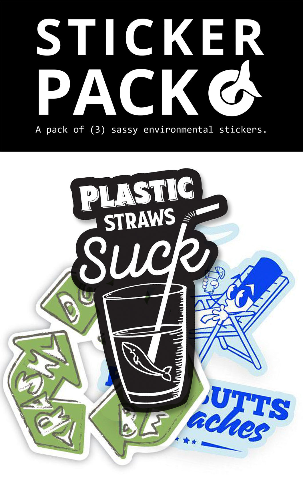 Sticker Pack - 3 Pack of Environmental Sticker